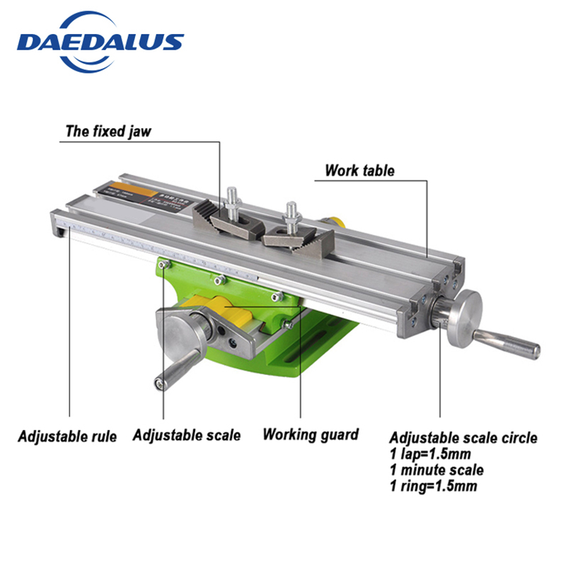 6330 Drill Table Mini Multifunctional Cross Working Table CNC Bench XY axis adjustment Coordinate table For