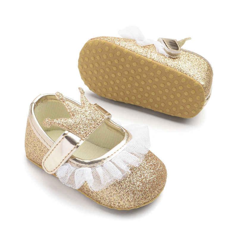 Emmababy 2018 เด็กทารกใหม่เด็กวัยหัดเดิน Soft Sole รองเท้า Anti - slip รถเข็นเด็ก Prewalkers รองเท้าผ้าใบน่ารักเจ้าหญิงรองเท้า 3-15 M