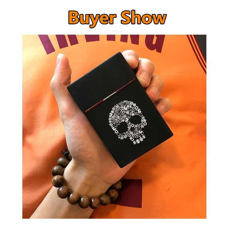 Ladies Silicone Cigarette Case Cover Men Gift Box Sleeve Smoking Cigarette Box Pocket Cigarettes Pack Cover Birthday Gift