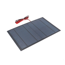 1pc x 18V 556mA with 200cm extend wire Solar Panel Polycrystalline Silicon DIY Battery Charger Small Mini Solar Cell cable toy