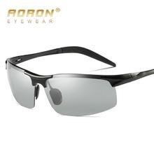 Бренд Aoron фотохромные солнцезащитные очки мужские Поляризованные обесцвечивание, мужчины магния и алюминия с антибликовым покрытием модные брендовые очки