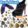 Mix Sizes Silver Gold Punk Rivet Stud Cone Spikes ABS Bead DIY Accessories for Bag Leather craft, Glue sew on beads Clothes