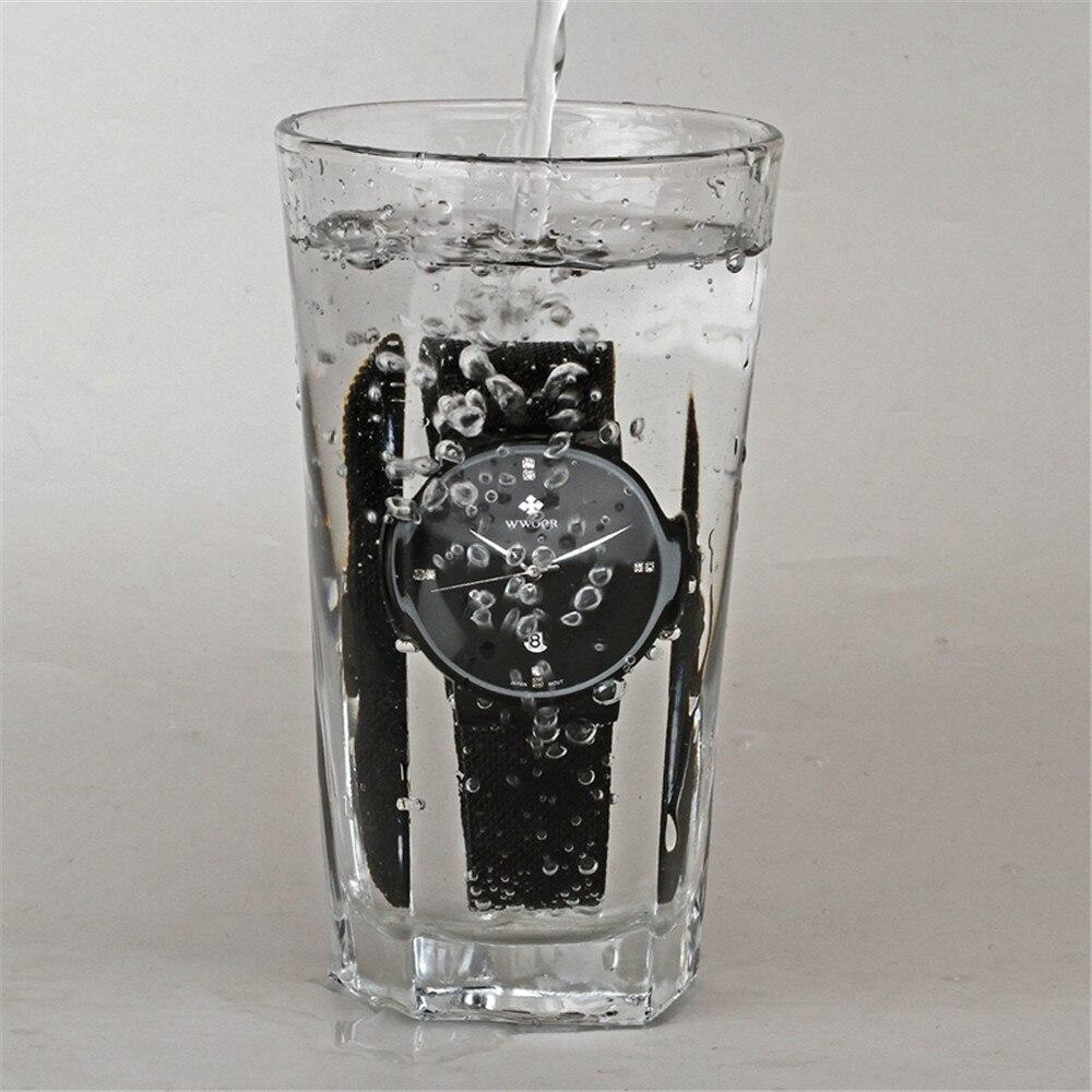 WWOOR Horloge Heren Modemerk Herenhorloges Quartz Ultra Dunne stalen - Herenhorloges - Foto 5