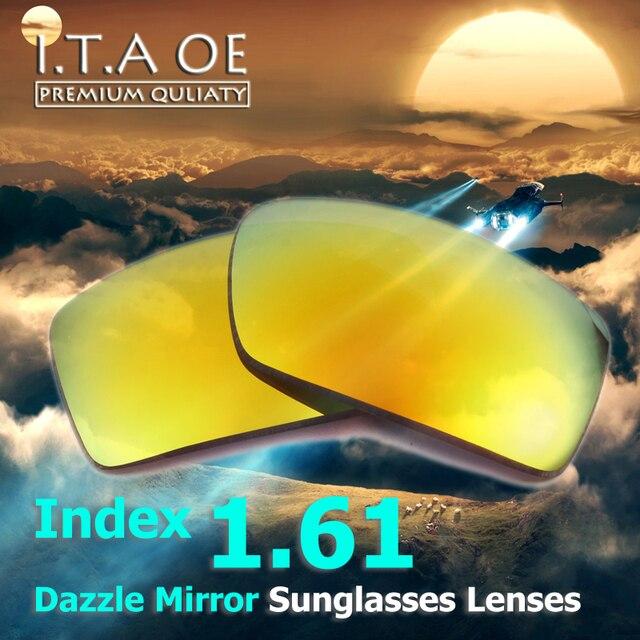 1.61 Index Dazzle Color Mirror Prescription Sunglasses Lens For Optical Myopia Reading Eyewear Frames Anti UV Scratch Coating