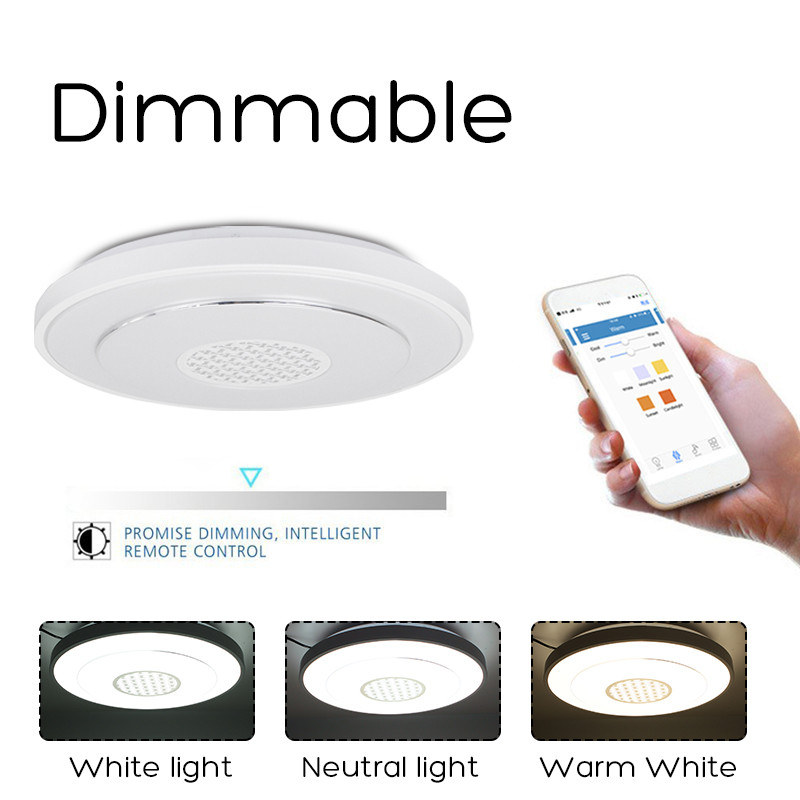 Ceiling Lights & Fans Indoor 36led Led Dimmable Lamp Ceiling Panel Down Light Fixture Wifi Control Google Alexa Bedroom Living Room Back To Search Resultslights & Lighting