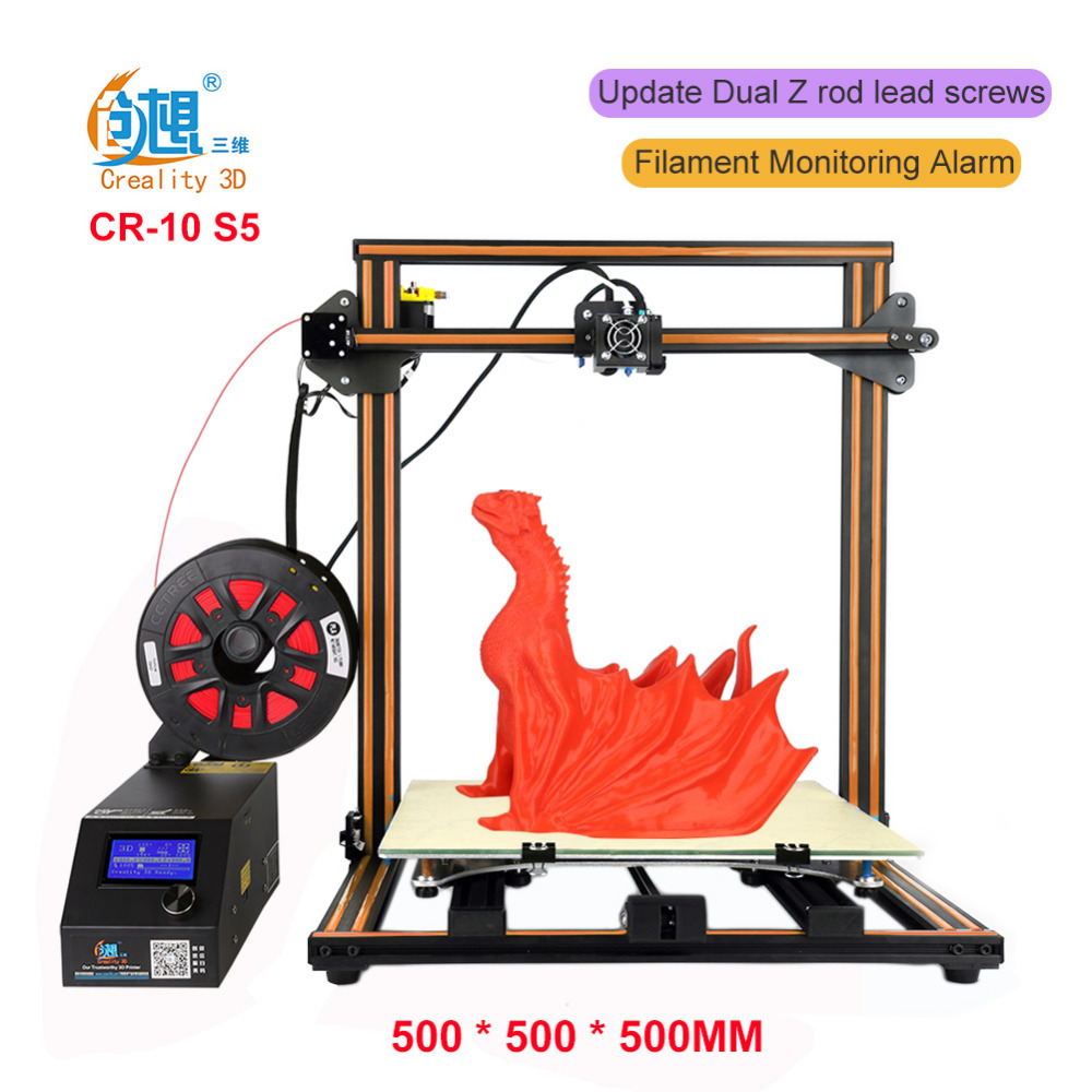 Creality 3D CR-10 S5 3D Printer Large Prusa I3 DIY Kit Large DIY Desktop 3D Printer DIY Education CR-10 Series metal frame linear guide rail for xzy axix high quality precision prusa i3 plus creality 3d cr 10 400 400 3d printer diy kit