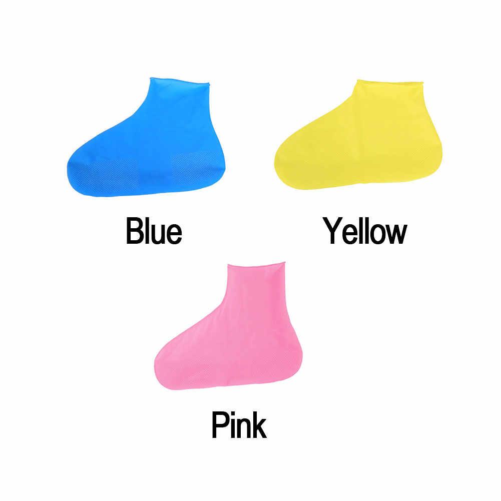 Su geçirmez Yağmur Yeniden Kullanılabilir Ayakkabı Kapakları Tüm Mevsim kaymaz kauçuk yağmur botu Galoş Erkekler ve Kadınlar Ayakkabı Aksesuarları #01