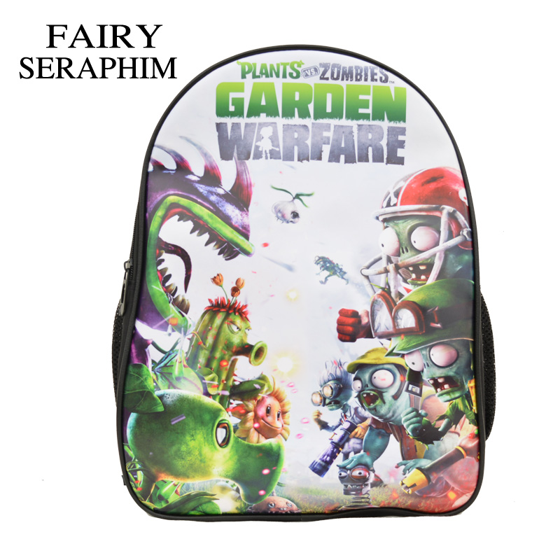 Fairy Seraphim New Plants Vs Zombies School Backpack Girl Boy Primary Student Schoolbags Children Cartoon Backpacks