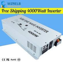 Micro grid tie inverter 12V/24V 4000W Peak Power Inverter Voltage Convertor Transformer 48V Automatic Adaptable 4000w 8000w peak 4000 8000 watt 12v to 220v power inverter charger