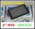 5 ''de navegação GPS do carro com transmissor de FM 800 Mhz CPU 128 M DDR 4 GB com 2016 mapas ou A Rússia Navitel 9.1 mapas