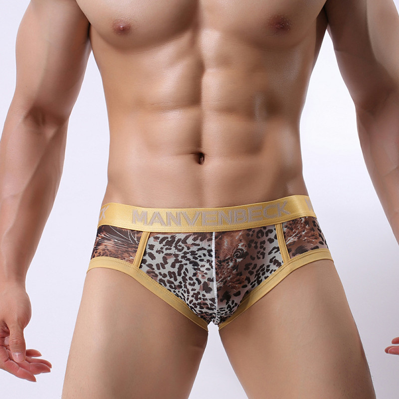 Men's  Underwear Men's Sexy Leopard Breathable Sexy Underwear Comfortable Men's Underwear Panties Shorts Cueca Men's Underwear