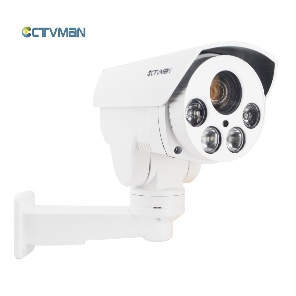 CTVMAN PTZ Camera IP Outdoor 1080P Pan Tilt Rotation 10X Zoom HD SD Card Slot External CCTV Onvif 2mp Security IP Network Cam suneyes sp v1809sw 1080p ptz ip camera outdoor wireless full hd pan tilt zoom with 2 8 12mm optical zoom and micro sd slot onvif