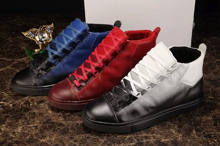 8bc9e4e3143 two tone Luxury Brand Kanye West Mens New BL Arena Shoes Casual Lace Up Trainers  Flats Men Sapatilha Creepers-in Women s Flats from Shoes on Aliexpress.com  ...