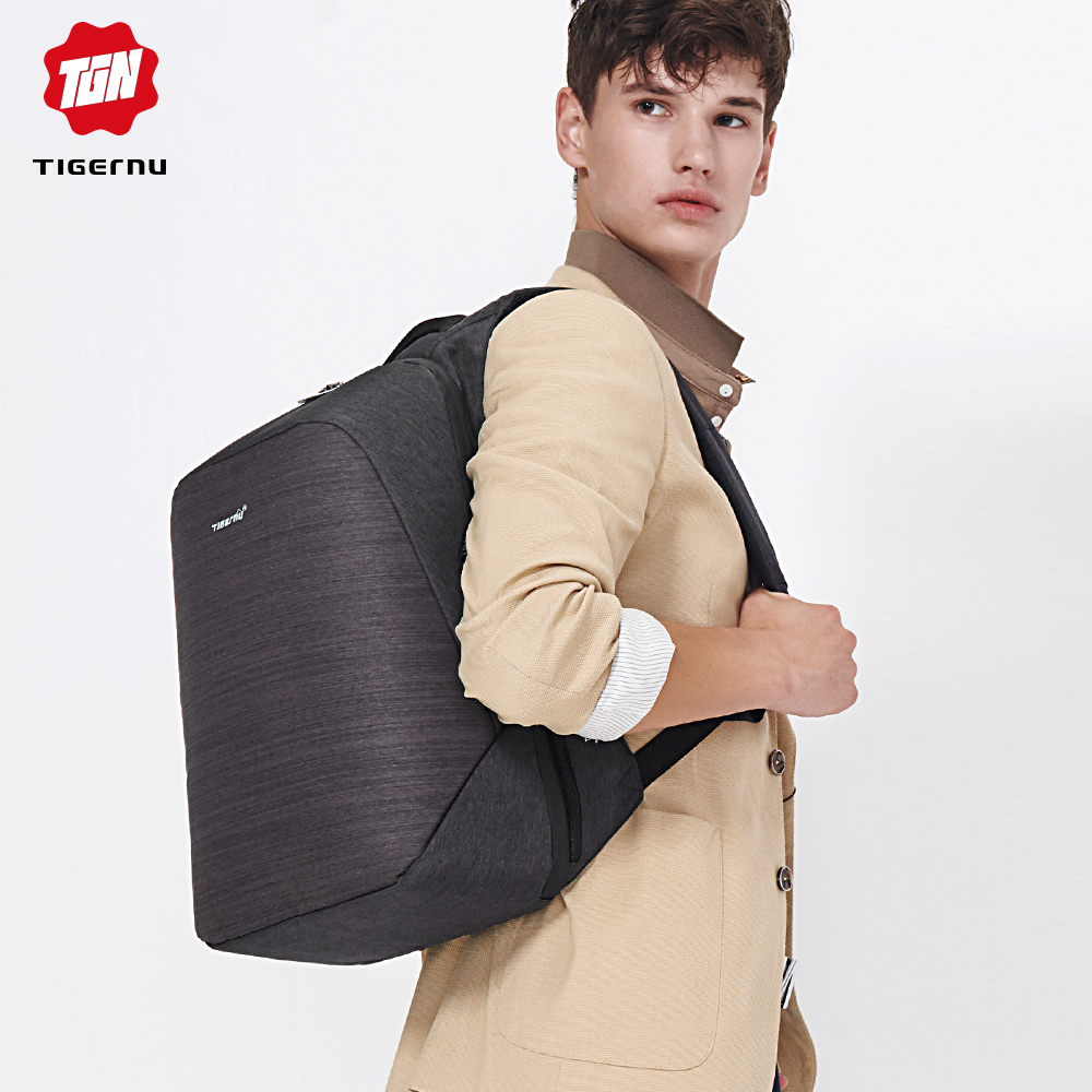 Image 5 - Casual Multi USB Charging Men 15inch Laptop Backpacks for Teenager Fashion Male Mochila Travel Anti Thief Schoolbag Backpack-in Backpacks from Luggage & Bags