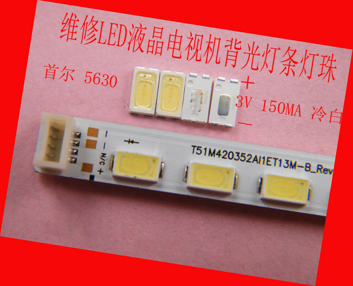 100piece/lot FOR Maintenance LED LCD TV backlight Article lamp Seoul SMD LEDs 3V 5630 Cold white light emitting diode