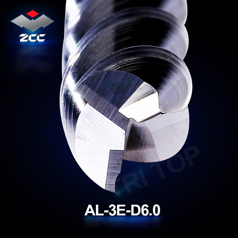 2 pezzi / lotto alta precisione ZCC.CT AL-3E-D6.0 frese in metallo - Macchine utensili e accessori - Fotografia 3