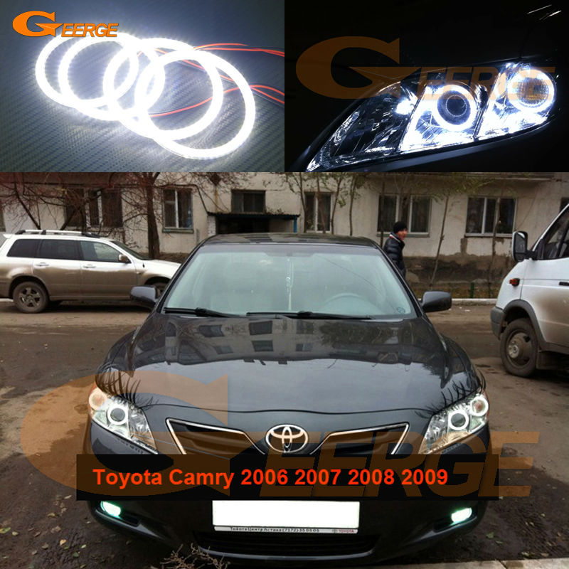 For Toyota Camry XV40 2006 2007 2008 2009 Altise Ateva Excellent Angel Eyes Ultra bright smd led Angel Eyes kit toyota camry