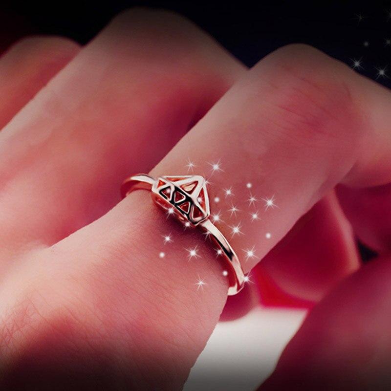 Bing Tu Creative Gold Color Geometric Piercing Rings Fashion ...