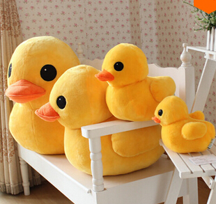 30cm&50cm New Arrival Stuffed Dolls Rubber Duck Hongkong Big Yellow Duck Plush Toys Hot Sale Best Gifts For Children
