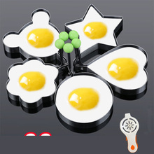 Hot Fried Egg Pancake Shaper Stainless Steel Mould Mold Kitchen Rings Heart Tool