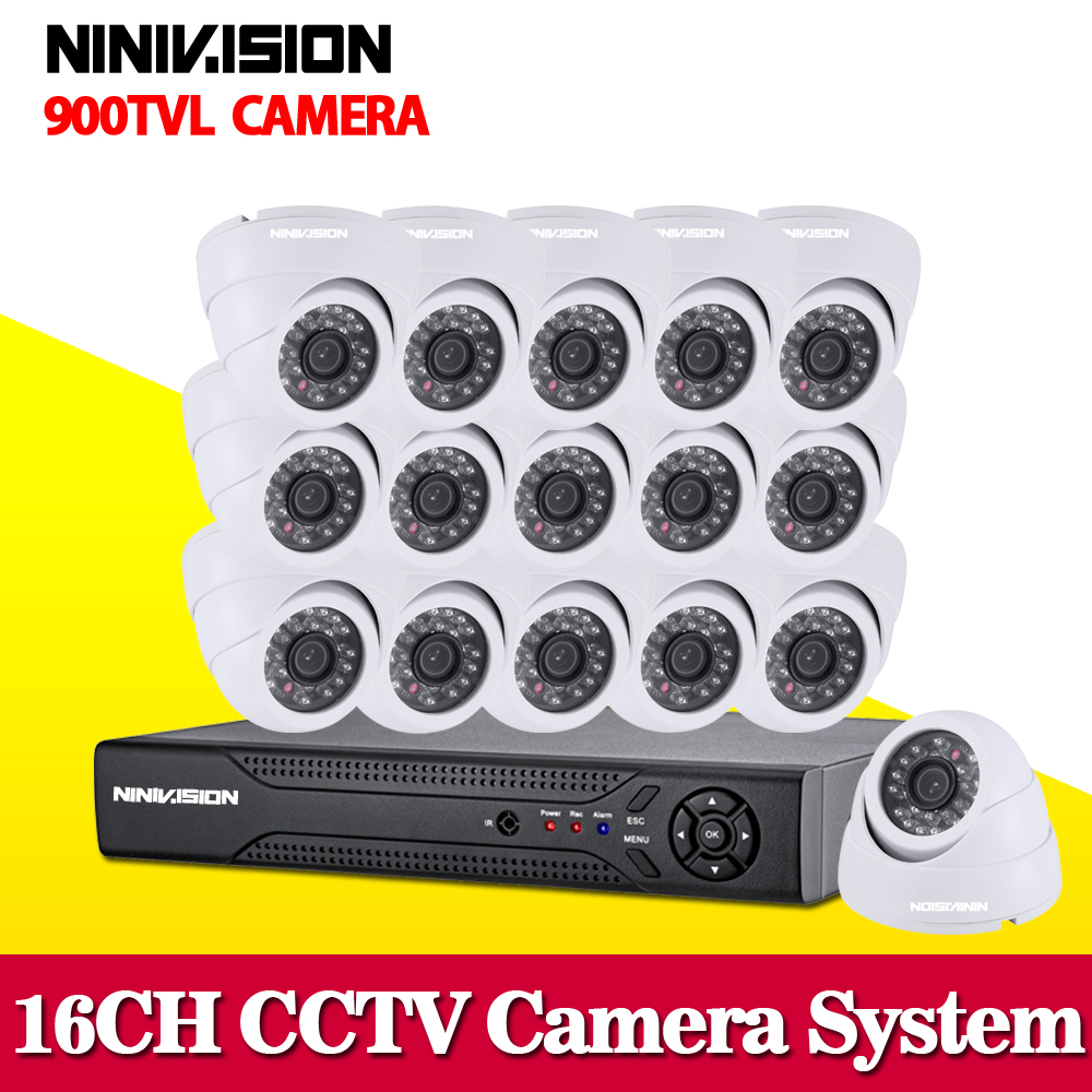 16 channel home security 900TVL video surveillance outdoor camera kit CCTV HDMI 1080P DVR recording CCTV system 16ch new original 516 300 s242 s4 d warranty for two year