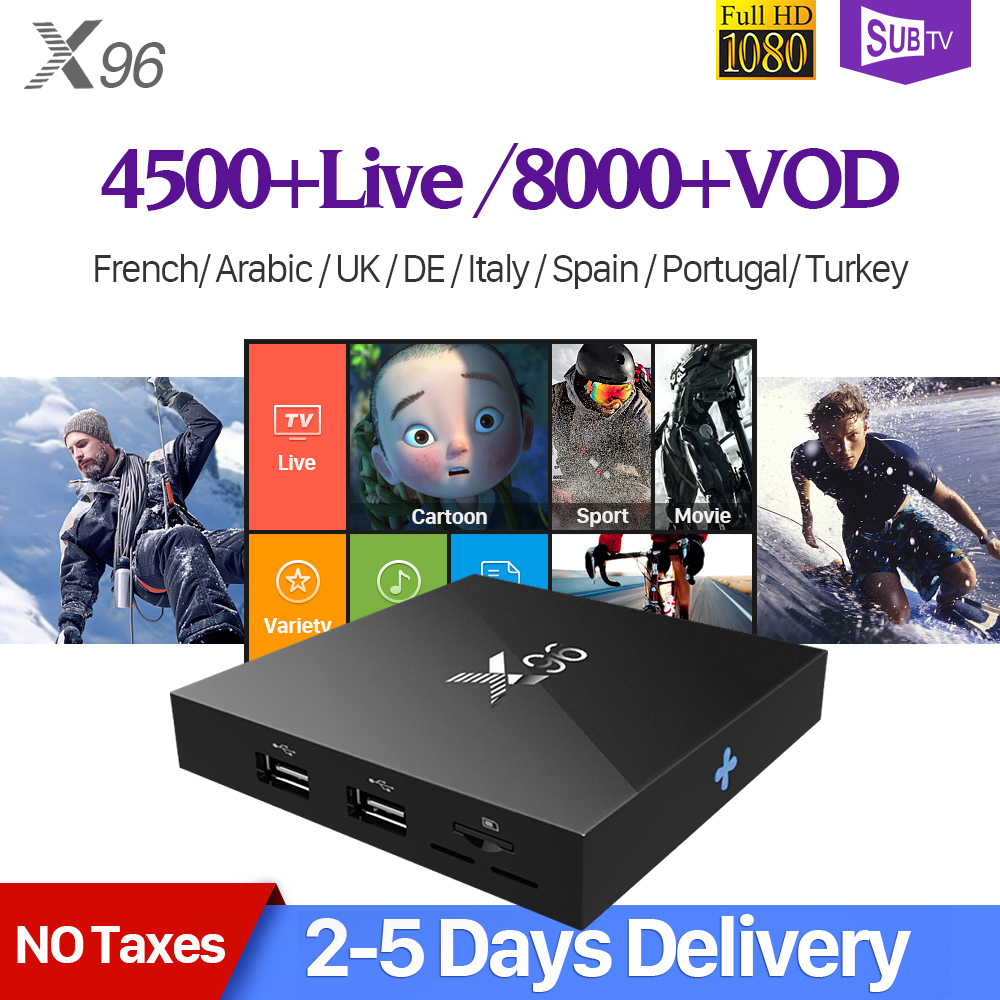 4K X96 Android Smart TV Box France Arabic IPTV 1 Year SUBTV IUDTV IPTV QHDTV Code PK X92 Arabic French Spain Europe IPTV Top Box dalletektv android smart tv box 1 year free qhdtv iptv channels arabic europe italia iptv french set top box media player