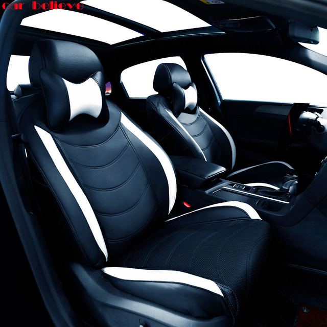 Car Believe Auto automobiles leather seat cover For Toyota RAV4 PRADO Highlander COROLLA Prius Land CRUISER 120 150 accessories