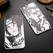 9ccd5037986 Luxury Soft TPU Shockproof Phone Case For iPhone X 10 8 Plus Cartoon Naruto  Sasuke Kakashi Pattern Cover For iPhone 6 6S 7 Plus
