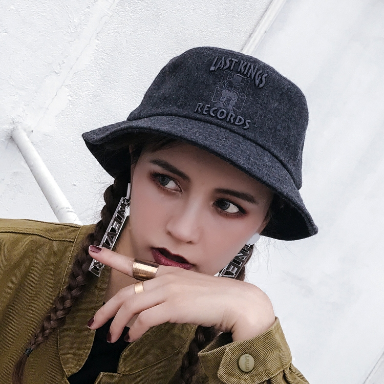 25666da3500 Aliexpress.com   Buy Tanworders 2017 Autumn Winter Wool Hats For Women Men Letter  Embroidery Thick Warm Bucket Hat Female Panama Caps from Reliable bucket ...