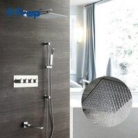 Frap смеситель для душа настенный термостат смеситель для ванной комнаты кран с водопадом дождевой смеситель для душа