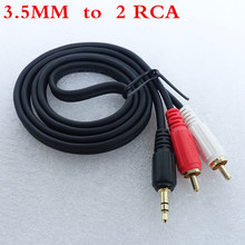3.5mm RCA Jack Cable 2 RCA Male to 3.5 mm Male Audio Cable 1M Aux Cable for Edifer Home Theater DVD Headphone amplifier decoder