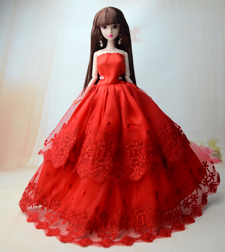 Nk One Pcs 2017 Princess Wedding Dress Noble Party Gown For Barbie Doll Fashion Design Outfit