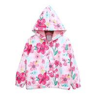 Spring Autumn Girls Coat 2017 New Style Flower Kids Jackets For Girls Hooded Casual Toddler Children