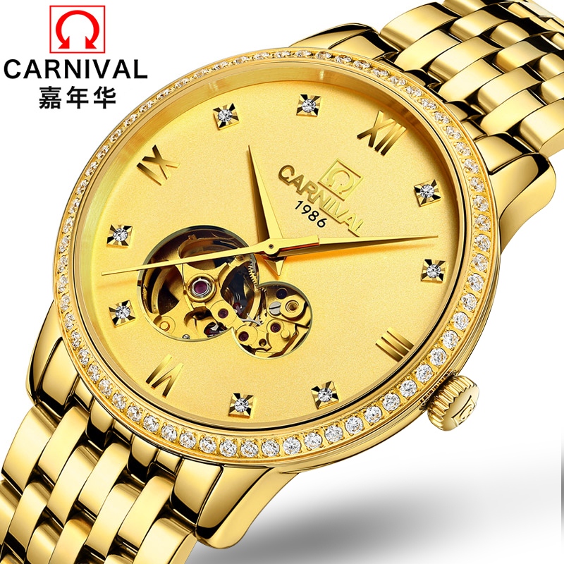 2017 New Arrival Direct Selling Staging Lichade Carnival Full Automatic Mechanical Watches Are Hollow Gold Men's Leisure staging of cancer rectum new era