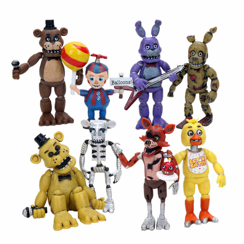 FNAF รูป Five Nights At Freddy's Sister Location Springtrap บอลลูน Boy Ennard Freddy หมี Action Figures ของเล่น