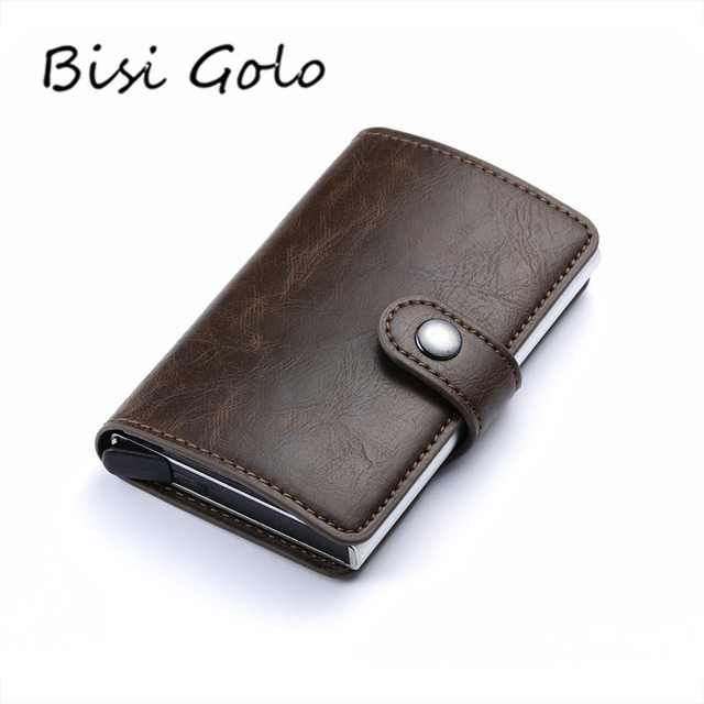Bisi goro 2018 men and women business id credit card holder crazy bisi goro 2018 men and women business id credit card holder crazy horse leather cases cards reheart