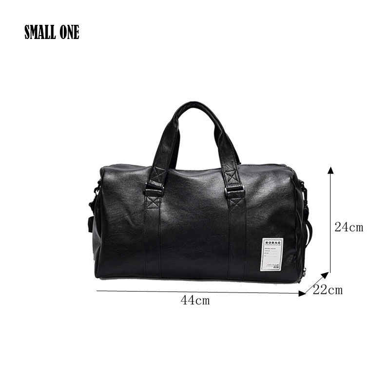 779cca8072a2 ... HOYOBISH корейский стиль мужские дорожные сумки непромокаемые кожаные сумки  сумка на плечо для женщин большой емкости ...