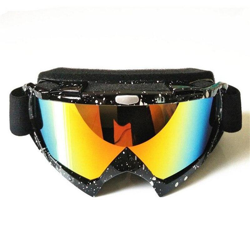 Prix pour Nouveau Ski Snowboard Lunettes Prévenir Vent Motoneige Dirt Bike Lunettes Motocross Off-Road Lunettes Couleur des Verres