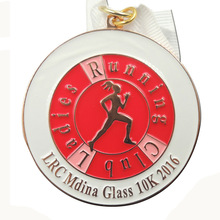 High quality 10K round marathon medal sports running