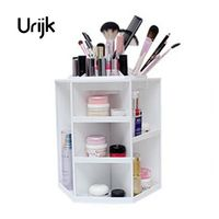 Urijk 360 Degree Rotating Plastic Storage Box Case Organizer For Cosmetic Stand Container Makeup Storage Box