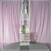 2Tier Set D 8 10 12 Tall Crystal Cake Stand Adorned With Sparkling Acrylic Crystals Wedding