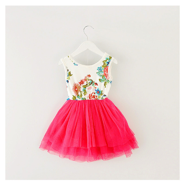 197dc177134 The little girl s clothes cartoon printed children   Dress   2017 summer (1- 3