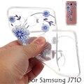 Das flores de borboleta macia para fundas samsung j7 2016 ultra fino transparente capa bonito para samsung j710 2016 case de silicone suave