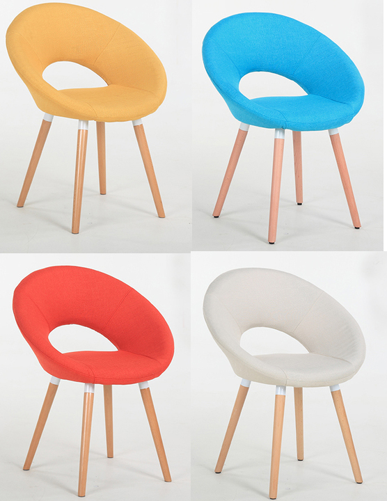 2pcs/lot Fashion Multi Candy Color Modern Sofa Chair leisure dining chair Beech Wood Soft Home kitchen furniture dining room C46