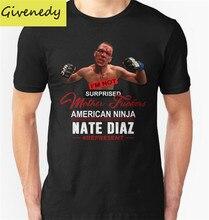 Heißer Verkauf 2016 Neue Ankunft Nate Diaz Gedruckt Sommer Kurze T-shirt Oansatz Baumwolle Mode Top Beiläufige T-stücke T-Shirt Größe S-2XL