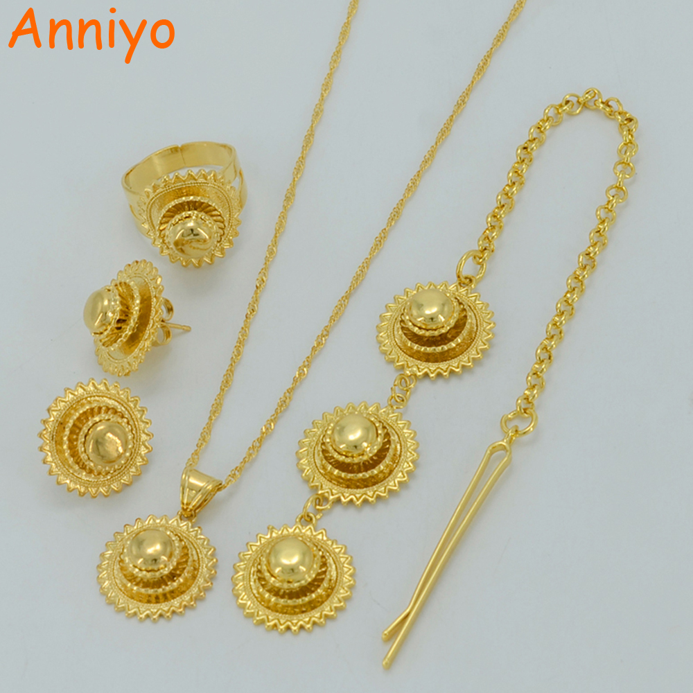 Beautiful Adixyn Red Stone Forehead Pieces Ethiopian Head Chain Gold Color Hair Pice Jewelry Habesha Wedding Gifts N-12214 Less Expensive Jewelry & Accessories Wedding & Engagement Jewelry