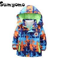 3 8Y Toddlers Boys Winter Warm Jackets Hoodie Children Outerwear Kids Windbreaker Fleece Inside Sports Clothing