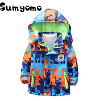 3 8Y Toddlers Boys Winter Warm Jackets Hoodie Children Outerwear Kids Windbreaker Fleece Inside Sports Clothing