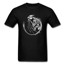 Dragon Fossil T Shirt Slim Fit Men T-shirt Fitness Short Sleeve Tops Tees NEW YEAR DAY Gift Crewneck 100% Cotton Male Tshirts цена и фото