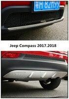 Voiture PARE-CHOCS Plaque Pour Jeep Compass 2017.2018 PARE-CHOCS GARDE de Haute Qualité En Acier Inoxydable Avant + Arrière Auto Accessoires